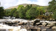 The Falls Of Dochart Are On The River Dochart At Killin In Stirling (formally In Perthshire), Scotland At The Western End Of Loch Tay.