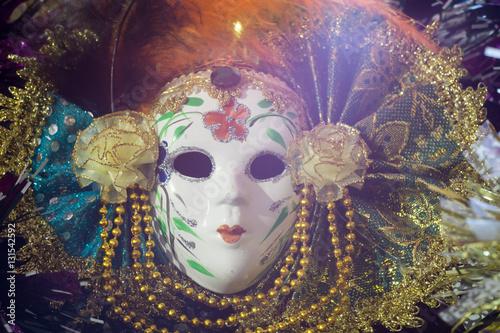 Keuken foto achterwand Art Studio Elegant Venetian Mask