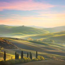 Unique Sundown Tuscany Landscape