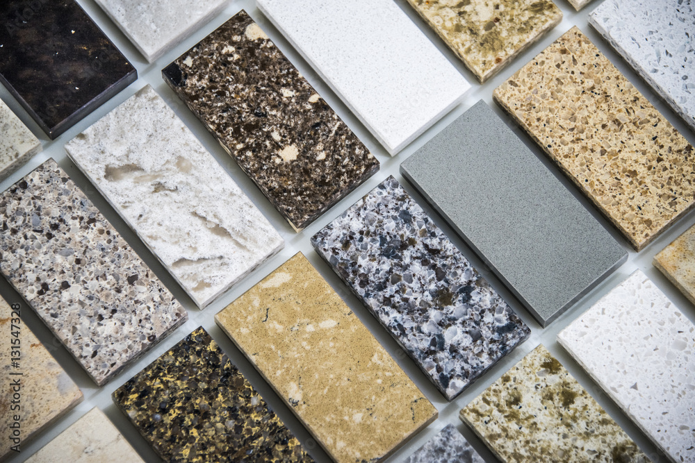 Photo Art Print Tile Flooring Of Marble Quartz And Granite