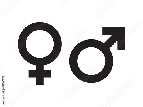 Obraz Gender symbol vector - fototapety do salonu