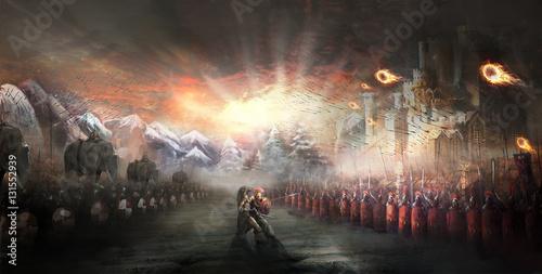 Fotografia Roman army in a war with Hannibal