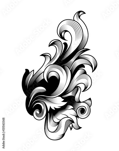 luxurious baroque foliage ornamental swirl victorian acanthus rh stock adobe com