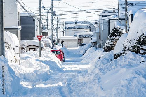 冬の道路事情 / 北海道 札幌市 Poster