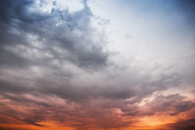 Stormy Clouds, Abstract Background