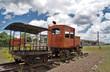 Antike Lokomotive hinten