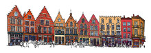 Belgium, Bruges - Old Brick Ho...