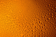 Misted Glass Of Beer Close Up ...
