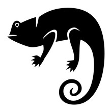 Vector Lizard Icon Isolated On White