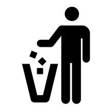 Keep Clean Icon. Do Not Litter...