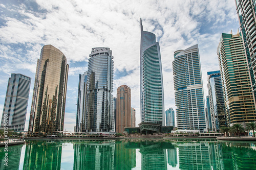 Fototapeta Jumeirah Lakes Towers w Dubaju, Zjednoczone Emiraty Arabskie