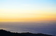 View of the Guipuzcoan coast at sunset from Monte Jaizquibel, Spain