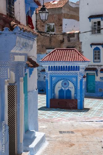 Poster Maroc Chefchaouen city buildings