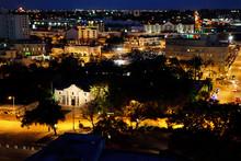 Alamo Plaza, San Antonio, Texas, At Night