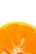 part of fresh orange on white background