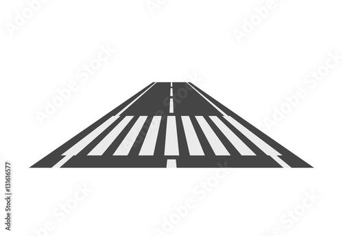 Zebrastreifenweg, Fußgängerübergangsperspektiven-Vektorillustration, Übergang lo Fototapete