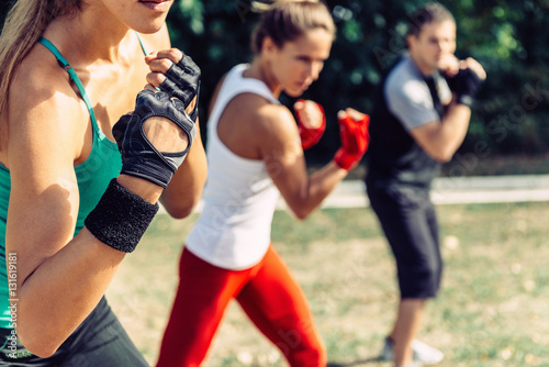 Tae bo training. Taebo Exercise