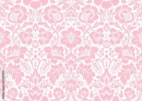 Fototapeten Künstlich Vector seamless floral damask pattern