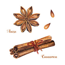 Set Of Spices With Cinnamon St...