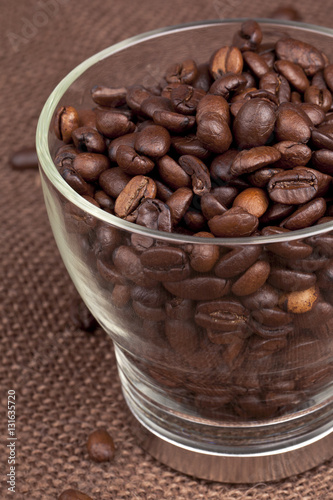 Canvas Prints Coffee beans coffee beans in a glass container