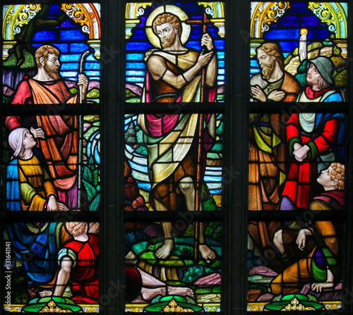 Fotografia Stained Glass - Saint John the Baptist