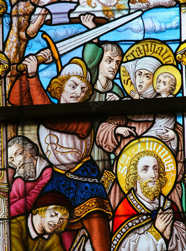 Fotografia, Obraz  Stained Glass - Martyrdom of St Livinus