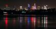 Panorama Warszawy w nocy