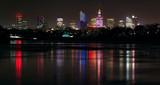 Fototapeta Miasto - Panorama Warszawy w nocy