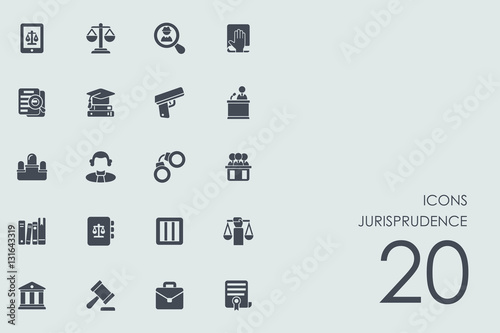 Photo Set of jurisprudence icons