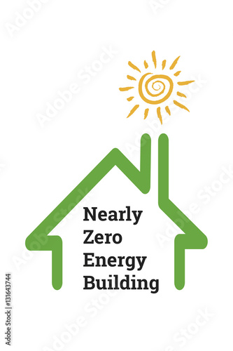 Fotografie, Obraz  Nearly zero-energy buildings have very high energy performance