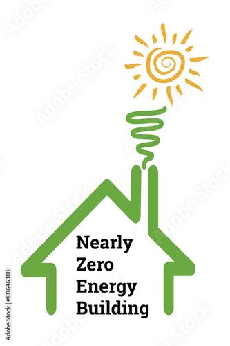 Fotografie, Obraz  Nearly zero-energy buildings have very high energy performance