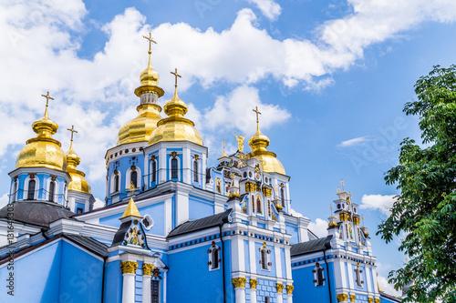 Foto op Canvas Kiev Город Киев, Михайловский собор. Золотые купола