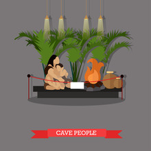 Vector Illustration Of Cave Pe...