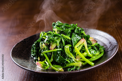Photo  Fried Spinach