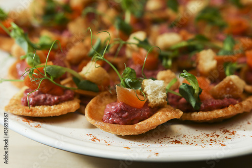 Canvas Prints Appetizer Platter of antipasti and appetizers