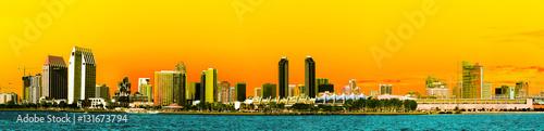 Fotografia, Obraz  Panorama of San Diego Skyline