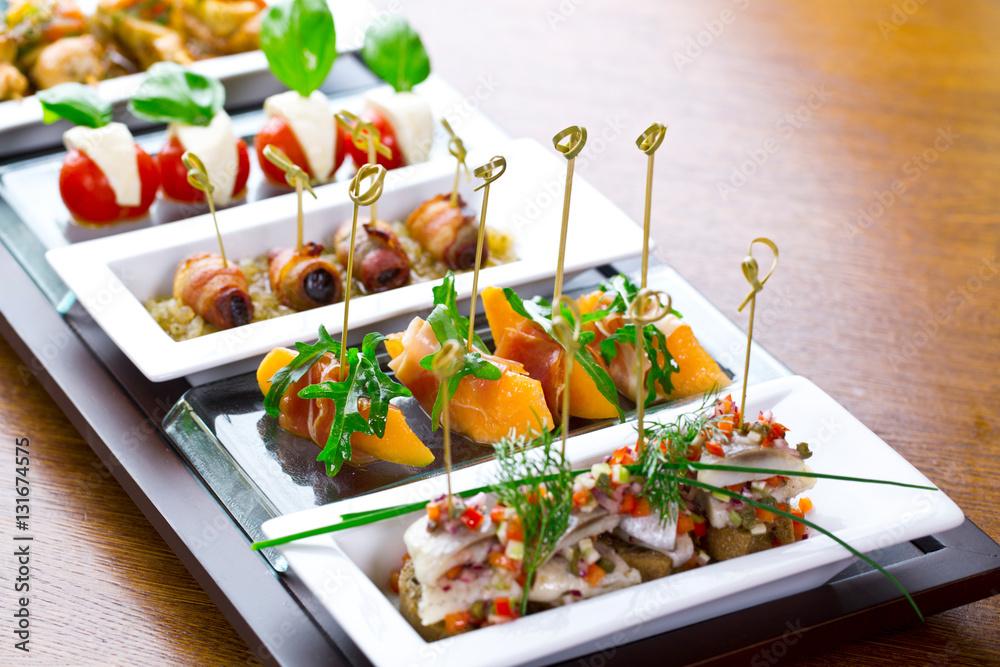 Fototapety, obrazy: set of finger food