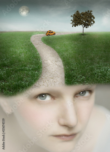 Photo sur Aluminium Surrealisme Traveling with Fantasy