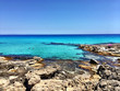 Beatiful Sunny Beach day in Formentera Spain.