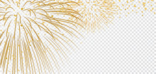 Gold Bright Firework On White ...