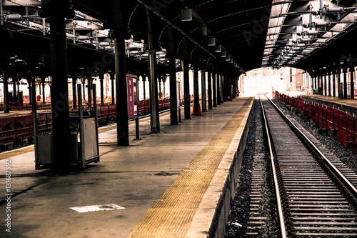Fotografie, Obraz  Train at Hoboken Station, New Jersey