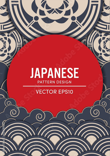 Japanese pattern design vector EPS10 - 131689567