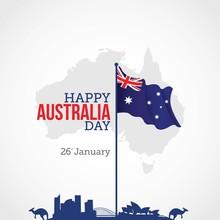 Happy Australia Day Vector Ill...