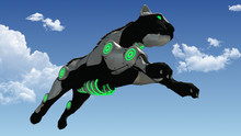 Jumping Machine Sci-fi Panther 3D Rendering