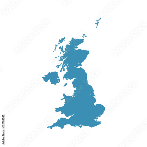 Poster  United Kingdom map