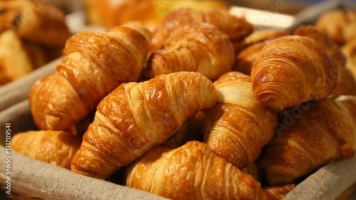 Stickers pour porte Boulangerie croissant,boulangerie,viennoiserie,petit déjeuner,