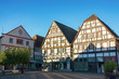 canvas print picture - Historische Gebäude am Marktplatz in Unna, Nordrhein-Westfalen