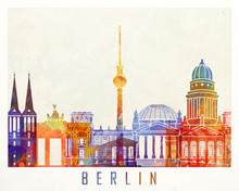 Berlin Landmarks Watercolor Po...