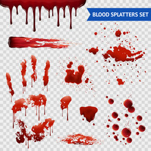Blood Spatters Realistic Sampl...
