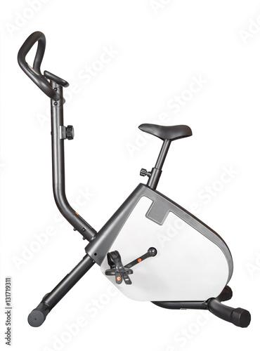 Fotografie, Obraz  cyclette su fondo bianco